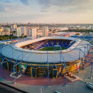 Аэросъемка - стадион Металлист г. Харьков