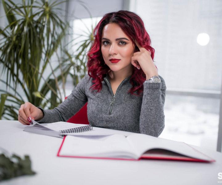 Съемка женского бизнес портрета