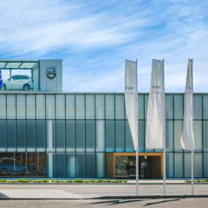 Архитектурная съемка автосалон Volvo г. Харьков